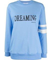 alberta ferretti light blue stretch-cotton sweatshirt