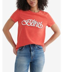 lucky brand cotton the band-graphic t-shirt