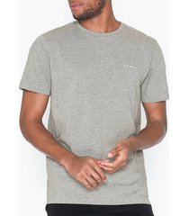 selected homme slhnick emb ss o-neck tee w t-shirts & linnen ljus grå