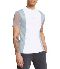 men's river island paris vertical colorblock t-shirt, size medium - grey