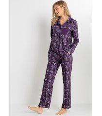 pyjama met knoopsluiting (2-dlg. set)