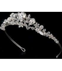 leigh swarovski silver bridal tiara