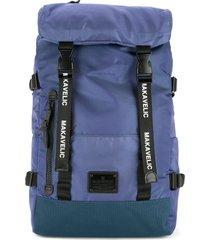 makavelic double belt daypack - purple