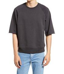men's rag & bone men's short sleeve city sweatshirt, size small - grey