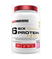 6 six protein advanced c/ zma pote 900g morango - bodybuilders