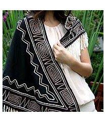 cotton scarf, 'lanna legend' (thailand)
