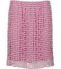 4g guipure lace skirt pink