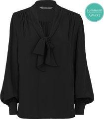 summum 2s2458-11233 990 blouse tie bow fluid viscose black