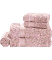 jogo de banho 5 peças egitto elegance soft rose trussardi | pronta entrega