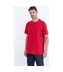 camiseta comfort em algodão peruano lisa   marfinno   vermelho   p