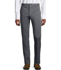 zanella men's noah flat-front trousers - medium blue - size 34