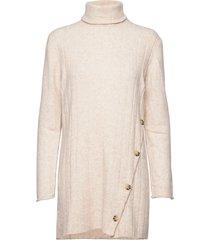 claire rollneck long knit gebreide jurk crème soft rebels