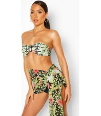 tropical animal self tie beach sarong