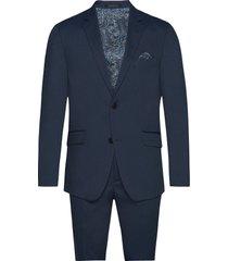 structure suit kostym blå lindbergh