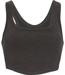 prana women's becksa bralette - black heather - large cotton shirt
