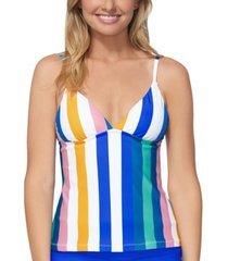 raisins juniors' beach please anya striped tankini top women's swimsuit