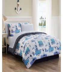 stone harbor 8 pc king bed in a bag bedding