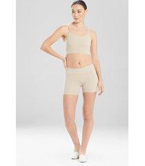 natori bliss flex shorts, women's, 100% cotton, size xs