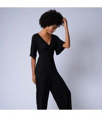 macacão pantalona olira m preto