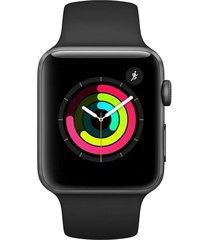reloj apple watch s3 gps 42mm gris espacial pulso negro
