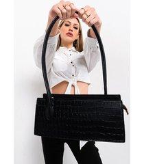 akira baguette croc purse