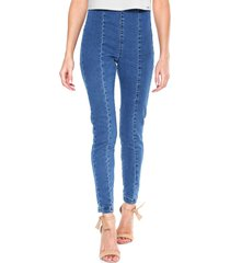 calã§a jeans lez a lez jegging estonada azul - azul - feminino - dafiti