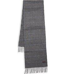 glen plaid cashmere scarf