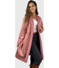 abrigo felpa  boho chic rosado enigmática boutique