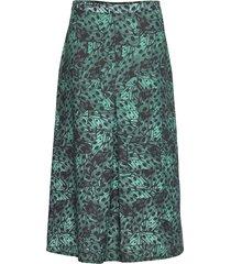 nisha skirt knälång kjol grön residus