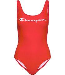 swimming suit baddräkt badkläder röd champion