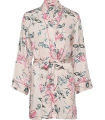 kimono woven watercolour iris morgonrock rosa hunkemöller