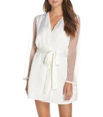 women's flora nikrooz showstopper robe, size small - ivory