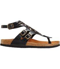 sandali comodi in pelle (nero) - bpc selection