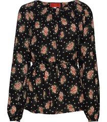 stefani blossomy blouse lange mouwen zwart whyred