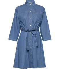 shani chambray shirt dress korte jurk blauw french connection