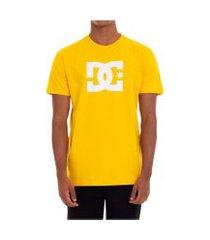 camiseta dc shoes star amarela claro tamanho:gg incolor