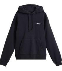 levi's red tab sweat hoodie black