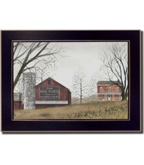 "trendy decor 4u mail pouch barn by billy jacobs, printed wall art, ready to hang, black frame, 14"" x 10"""