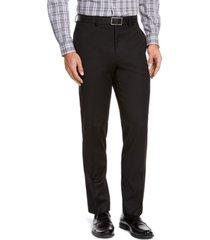 izod men's classic-fit black solid suit pants