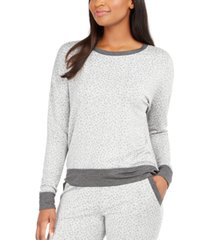 alfani women's animal-print pajama top, created for macy's