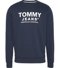 tommy hilfiger crew neck sweater dm0dm08405 graphic c87 twilight navy - blauw