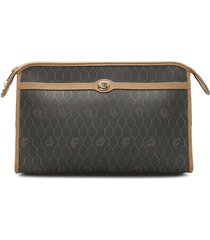 christian dior pre-owned honeycomb clutch bag - black
