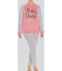 pijama jersey rayas coral baziani