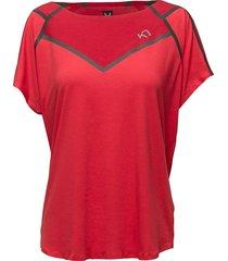 silja tee t-shirts & tops short-sleeved röd kari traa