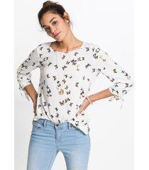 blouse met striklinten