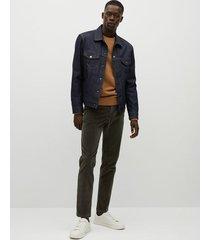 tapered-fit corduroy broek met spijkerstofeffect