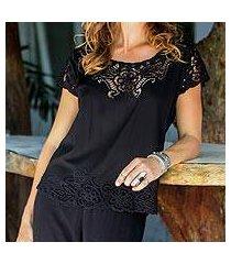 rayon blouse, 'onyx kusuma' (indonesia)