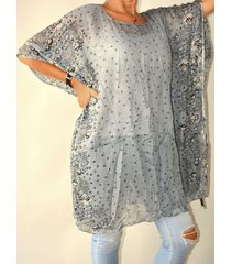 blusa gris spiga 31 plus size
