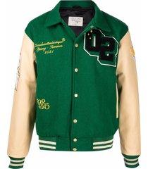 02settantacinque varsity sports jacket - green