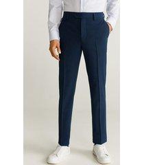 wollen slim-fit pantalon